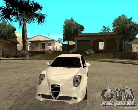 Alfa Romeo Mito for GTA San Andreas back view
