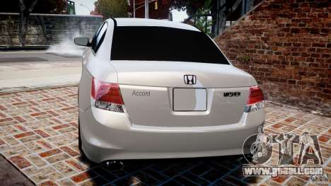 Honda Accord 2009 for GTA 4 back left view