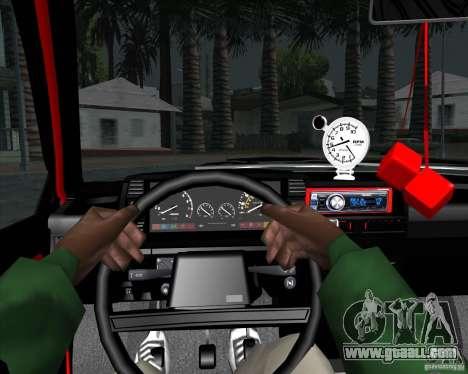VAZ 2109 Drift for GTA San Andreas inner view