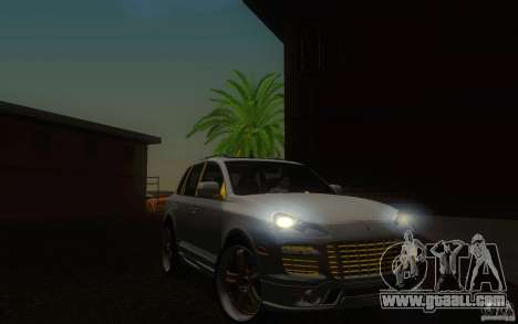 Porsche Cayenne gold for GTA San Andreas inner view