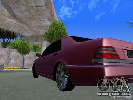 Mercedes-Benz S600 W140 v 2.0 for GTA San Andreas back view