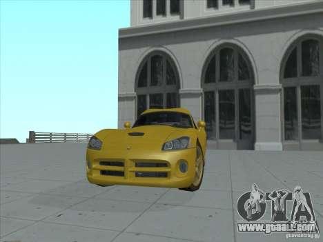 Dodge Viper SRT-10 (Golden Viper) for GTA San Andreas back left view