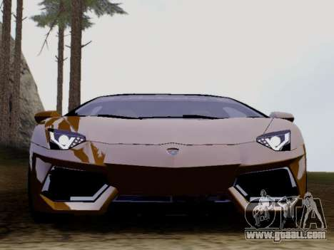 Lamborghini Aventador LP700-4 Vossen for GTA San Andreas left view