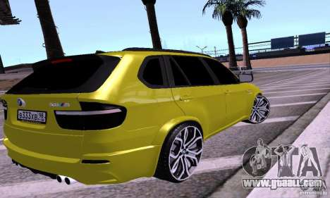 BMW X5M Gold for GTA San Andreas left view