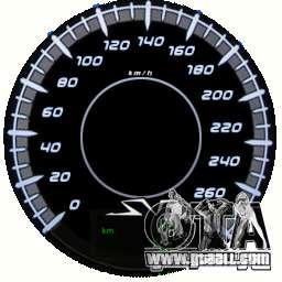 Speedometer IV (Skin 10) for GTA 4