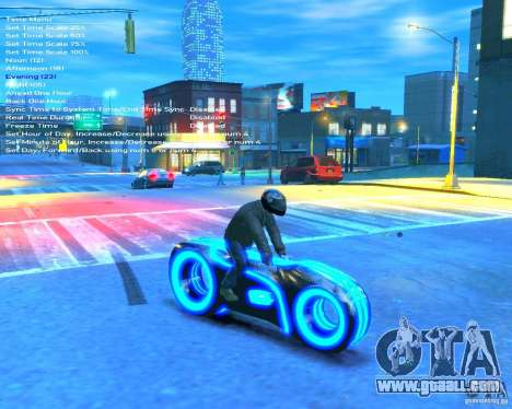 Motorcycle of the Throne (blue neon) for GTA 4 right view