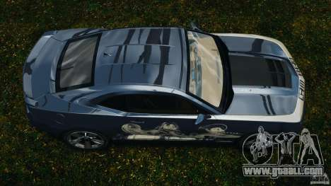 Chevrolet Camaro ZL1 2012 v1.0 Smoke Stripe for GTA 4 right view