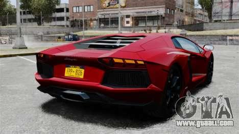 Lamborghini Aventador LP700-4 2012 v2.0 EPM for GTA 4 back left view