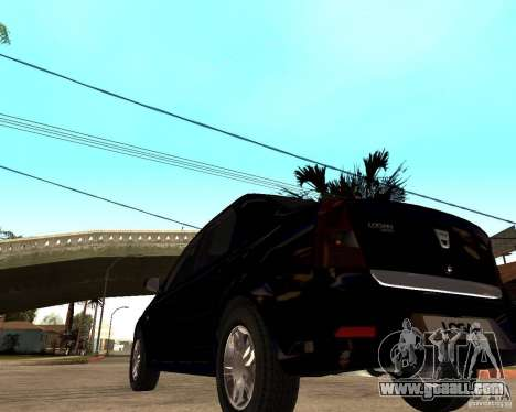 Dacia Logan 2008 for GTA San Andreas back left view