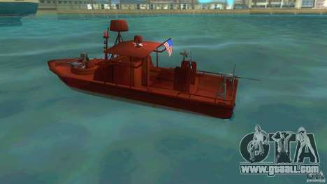 Patrol Boat River Mark 2 (Player_At_Guns) for GTA Vice City left view