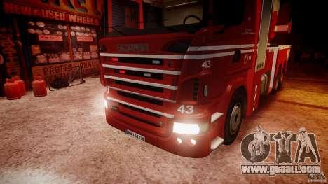 Scania Fire Ladder v1.1 Emerglights red [ELS] for GTA 4 bottom view