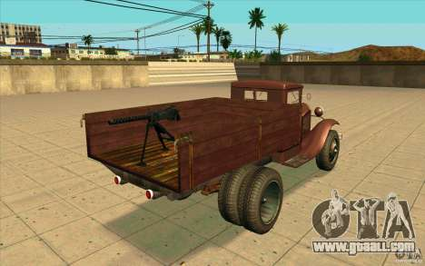 GAZ-AA for GTA San Andreas back left view