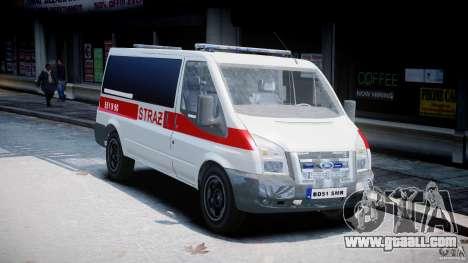 Ford Transit Polish Firetruck [ELS] for GTA 4 right view