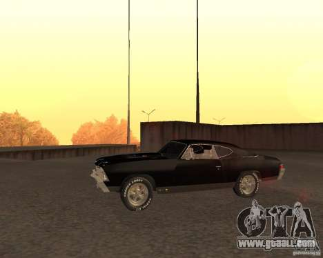 Chevrolet Chevelle 1968 for GTA San Andreas left view