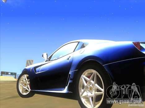 Ferrari 599 GTB Fiorano for GTA San Andreas inner view