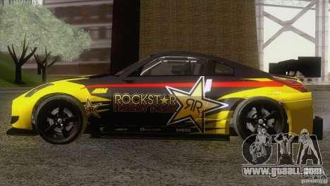 Nissan 350Z Rockstar for GTA San Andreas back left view