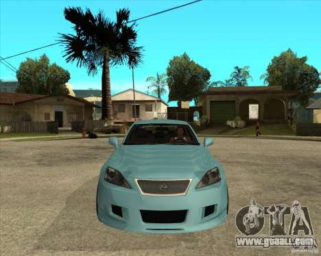2007 Lexus IS350 for GTA San Andreas back view