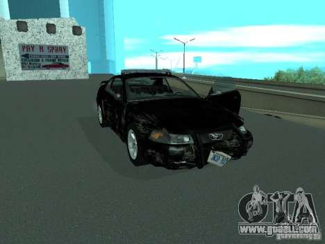 Ford Mustang GT Police for GTA San Andreas side view