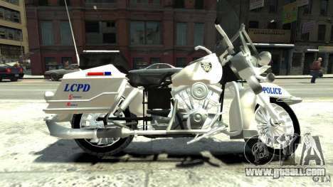 Police Bike for GTA 4 left view