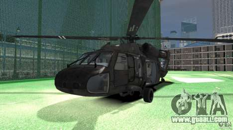Sikorsky UH-60 Black Hawk for GTA 4 left view