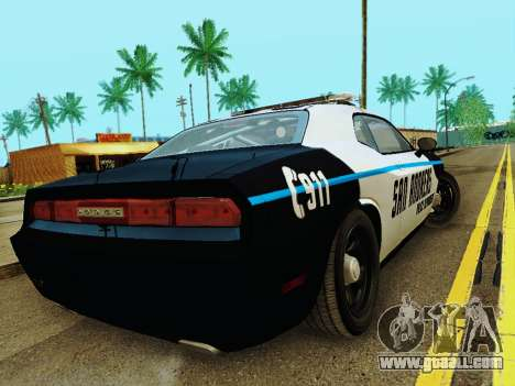 Dodge Challenger SRT8 2010 Police for GTA San Andreas right view