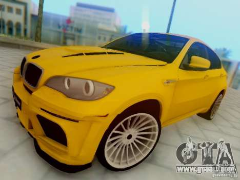 BMW X6 Hamann for GTA San Andreas inner view
