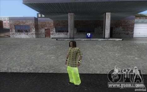 Rasta ped for GTA San Andreas third screenshot