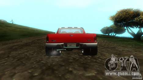 Ford F350 1992 for GTA San Andreas back view