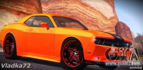 Dodge Quinton Rampage Jackson Challenger SRT8 v1 for GTA San Andreas