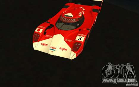 Toyota GT-One TS020 for GTA San Andreas inner view