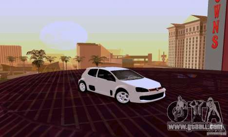 Volkswagen Golf 5 GTI W12 for GTA San Andreas left view