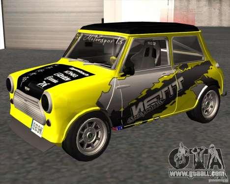 Mini Cooper S Titan Motorsports for GTA San Andreas