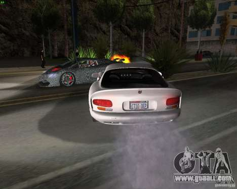 Dodge Viper for GTA San Andreas back view