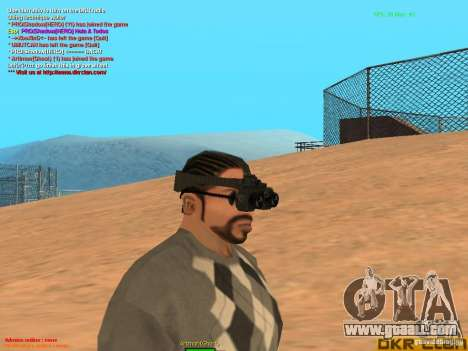 Thermal Goggles for GTA San Andreas second screenshot