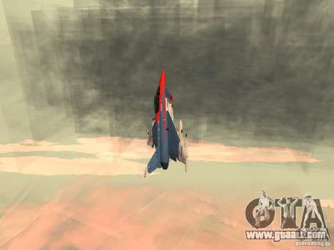 Eurofighter Typhoon for GTA San Andreas back left view