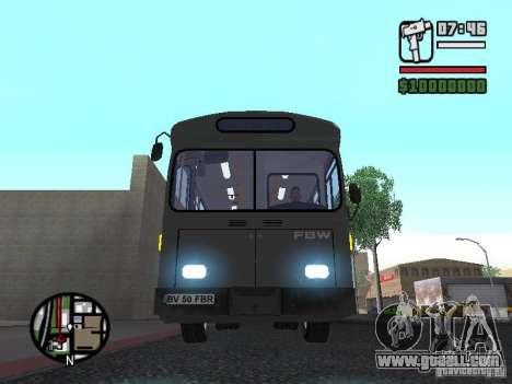 FBW Hess 91U for GTA San Andreas inner view