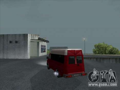 Iveco TurboDaily 35-10 for GTA San Andreas back left view