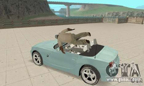 BMW Z4 Roadster 2006 for GTA San Andreas inner view
