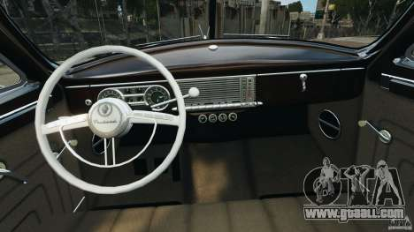 Packard Eight 1948 for GTA 4 inner view