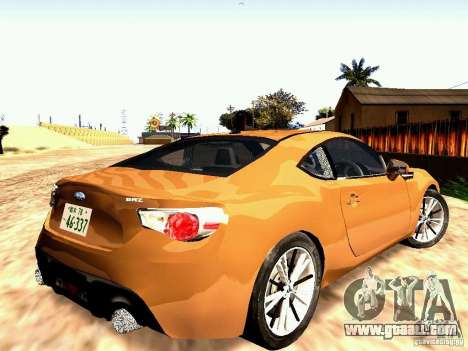 Subaru BRZ for GTA San Andreas left view