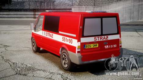 Ford Transit Polish Firetruck [ELS] for GTA 4 inner view