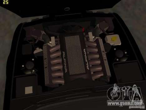 BMW E34 Alpina B10 Bi-Turbo for GTA San Andreas upper view