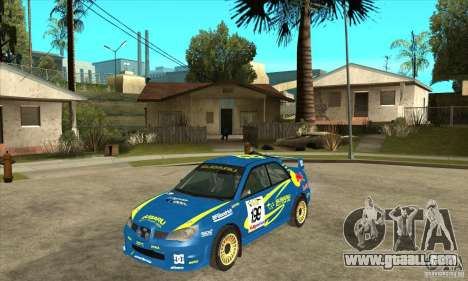 Subaru Impreza STi WRC wht2 for GTA San Andreas back left view