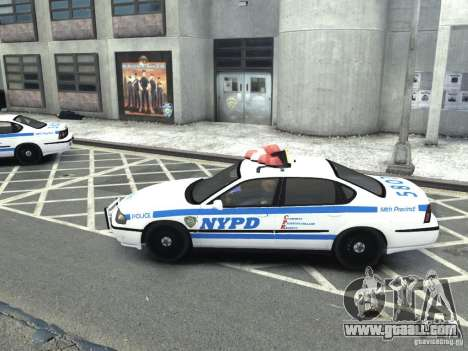 Chevrolet Impala NYCPD POLICE 2003 for GTA 4 left view
