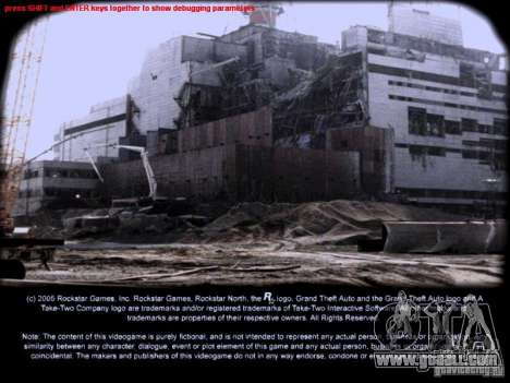 Loading screens Chernobyl for GTA San Andreas second screenshot