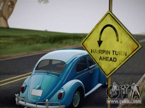 Volkswagen Beetle 1967 V.1 for GTA San Andreas back view