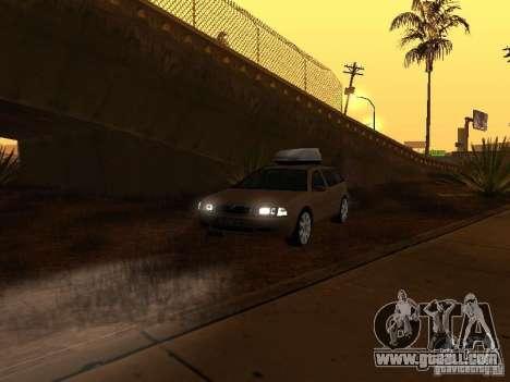 Skoda Octavia for GTA San Andreas interior