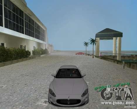 Maserati  GranTurismo for GTA Vice City back left view