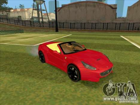 Ferrari California for GTA San Andreas left view