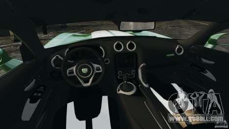 SRT Viper GTS 2013 for GTA 4 back view